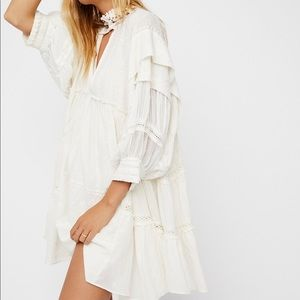 NWOT Free People Heartbreaker Mini Dress Ivory